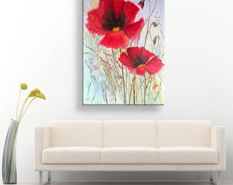 Flaming ... Oil painting on canvas. Original painting.