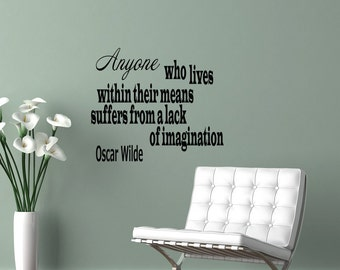 Wall Vinyl Decals Quote Decal Anyone who lives Oscar Wilde Sayings Sticker Decals Wall Decor Murals Z6