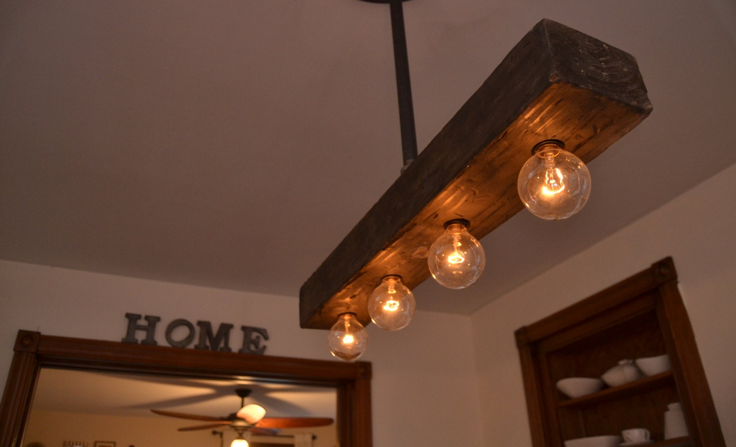 reclaimed wood chandelier light fixture farm light