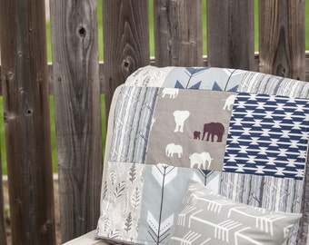 Baby Blanket, Patchwork Crib Blanket, Nursery Bedding, Crib Bedding, Crib Blanket