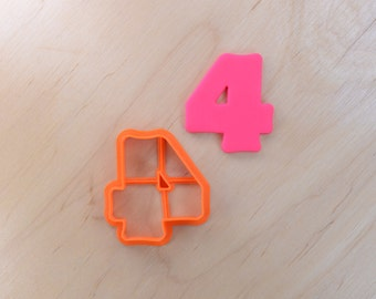 Joyous Number Four Cookie Cutter