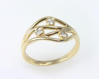 Diamond Engagement ring,Diamond Ring,Past Present Future Ring, Diamond PPF ring,ppf engagement ring,Past Present Future