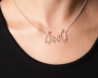 Mommy child necklace, Mom to be gift,  925 silver jewellery, Mom to be necklace, Mommy gift