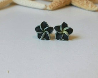 Flower Earrings, Hawaii Flower Earrings, Beach Earrings, Plumeria Earrings - Beach Hawaiian Jewelry