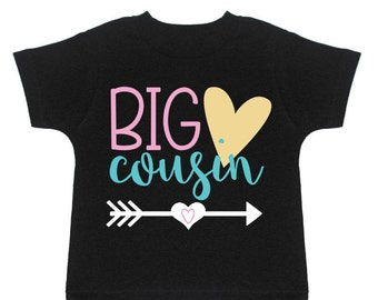 Big Cousin Shirt Cousin Gift For Cousins Announcement Shirt Big Cousin Tshirt New Cousin Big Cousin To Be Pregnancy Reveal Big Cousin Tee