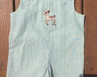 Baby Deer Baby Boy Romper- Baby Boy Jon Jon- Baby Boy Summer Outfit