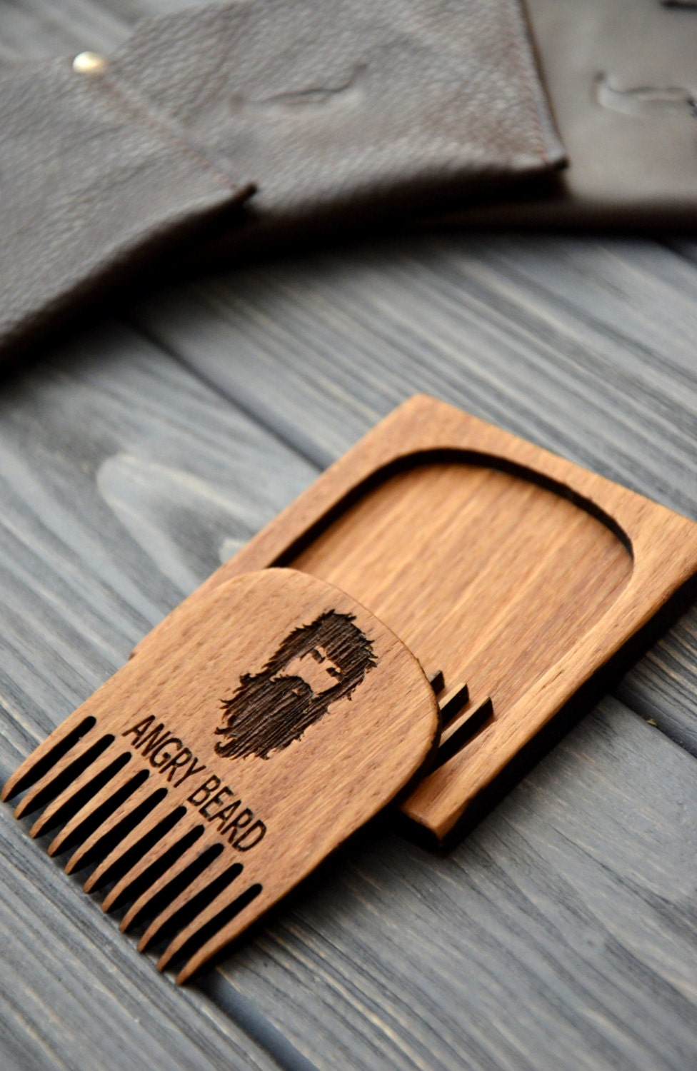 Personalized Beard Comb Custom Engraved Gift For Men Him