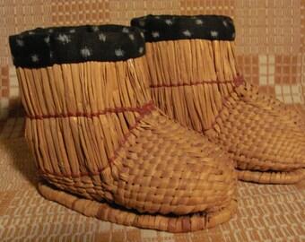 Rare Original Child's 'Fukagutsu' Snow Boots Handmade in Japan