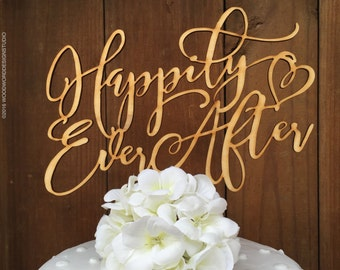 Happily Ever After Cake Topper, Wedding Cake Topper, Happily Ever After Cake Topper, Wedding Cake Topper