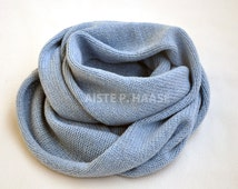 Cashmere infinity scarf, Serenity color shawl, Cashmere loop scarf, Chunky scarf, Knitted cashmere scarf, Cashmere snood, Extra large scarf