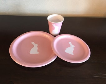 Bunny Party Pack - Rabbit Plates - Easter Bunny Party Plates - Hare Birthday - Bunny Rabbit - Animal Party - Pet Bunny - Girl Birthday Ideas