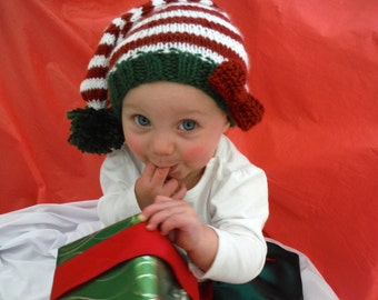 Elf hat - Christmas Hat- Knit Elf Hat