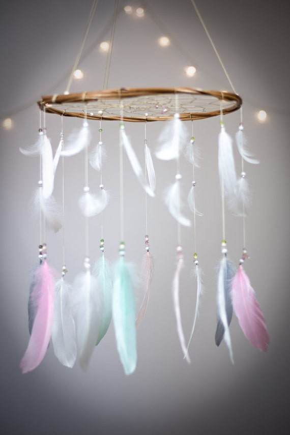 pastel dreamcatcher mobile dream catcher mobile by