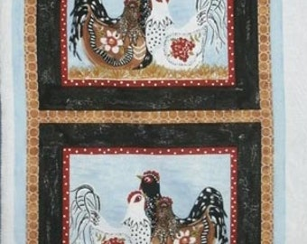 3 French Hens from Troy Fabrics - Panel