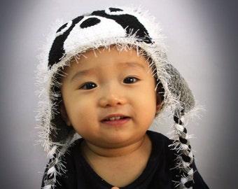 Crochet Raccoon Hat, Baby Raccoon Hat, Crochet Raccoon Beanie, Photo prop