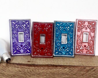 Light Switch Cover - French Country Decor - Light Switch Plate - Shabby Chic Decor - Switch Plate Covers - Fleur de Lis - Lightswitch Plate