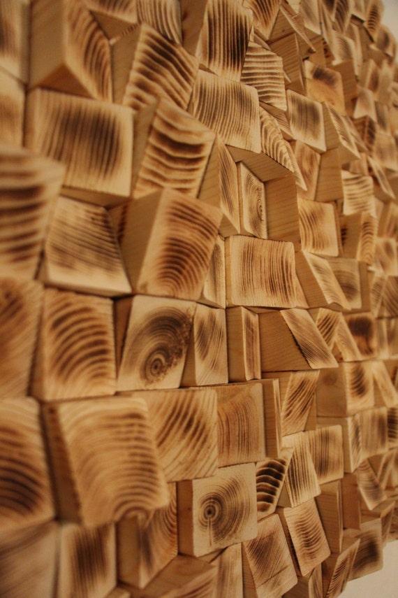 Madera reciclada de la pared arte mosaico de madera arte - Paneles con relieve para paredes ...