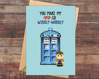 Valentine's Day Cards, Doctor Who, Dr Who, Doctor Who Valentines, Dr Who Valentines, Doctor Who Gift, Geeky Valentine Card, Geeky Valentines