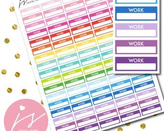 Work Planner Stickers, Printable Work Job Schedule Sticker, Digital DIY Shift Job Planner, Weekly Monthly Planner Sticker, STI-113