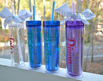 Custom Birthday Cup, Personalized Birthday Cup, Personalized Tumbler, Custom Bottle, Birthday Gift, Birthday Girl Gift, Group Tumbler