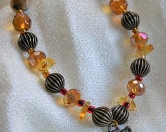Gem Encrusted Owl Bracelet