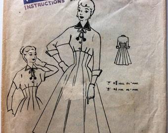 1950s dress Rockabilly style panelled skirt empire bodice vintage sewing pattern Fashion Cut Pattern 3549 Bust 32  Waist 26 Hip 36 g
