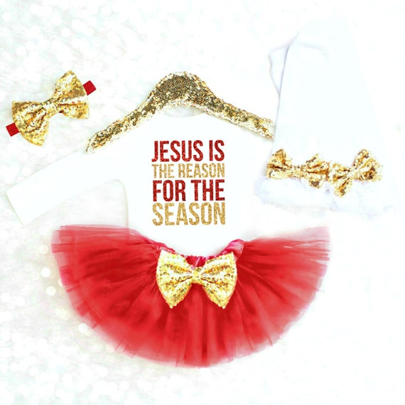 baby girl christmas outfit jesus is the reason religious christmas onesie girl christmas newborn girl red
