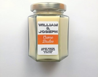 SALE - Was 8.50 GBP Now 4.95 GBP  Creme Brulee Scented Soy Candle, Soy Candle, Scented Candles,Girlfriend gift, Wife gift, Birthday gift,