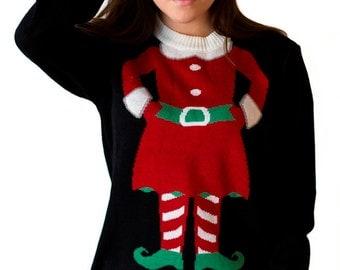 Women's Mini-Elf Christmas Sweater