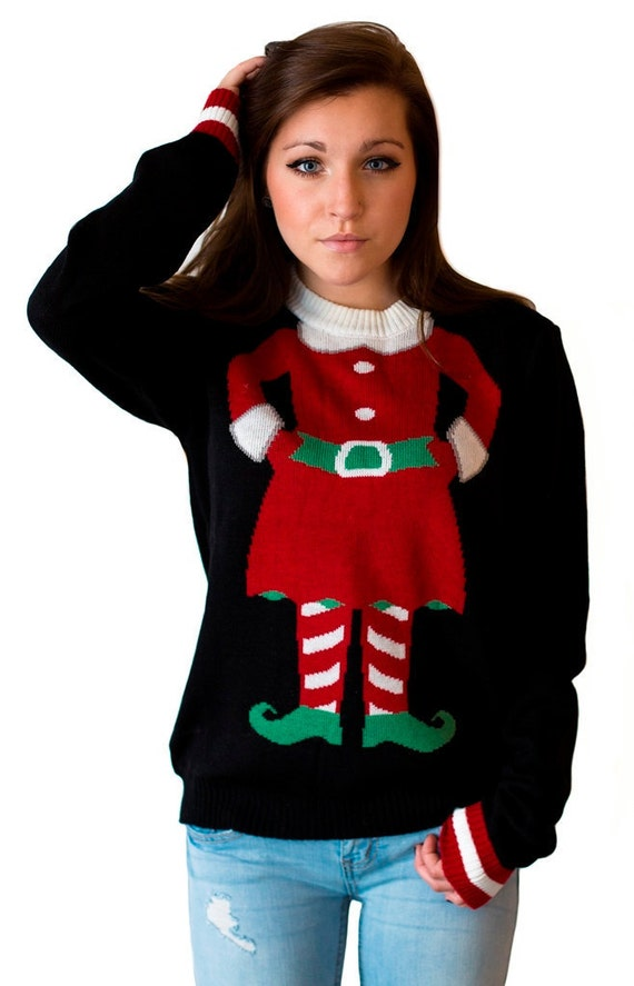 Women's Mini-Elf Christmas Sweater