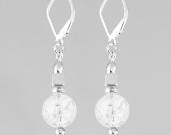 Quartz Globe Earrings