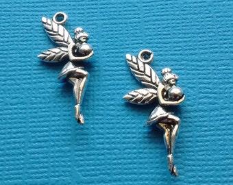 10 Fairy Charms Silver - CS2398