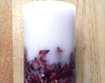 Free shipping,Botanical candles,Rose candles,soy candles,soy wax,natural