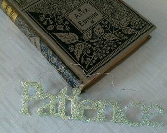 Handmade Glitterbit: Patience Sparkle Gift Tag
