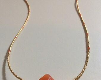 Carnelian coral pendant