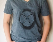 Women in Science: Rosalind Franklin's DNA crystallography v-neck; limited edition hand-printed soft v-neck t-shirt