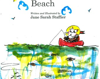 Casey's Day at the Beach, Coloring Book #1-#4; Signed by Author, 22 pages in black & white to color