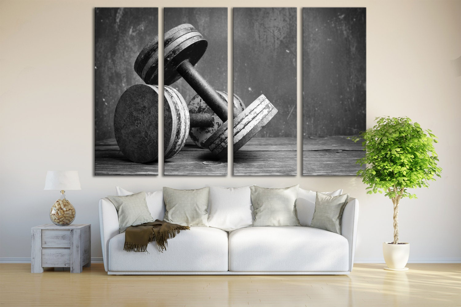 Gym wall art sports fitness crossfit