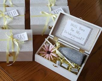 Sparkling Bridesmaid Boxes (Box + Tag + Ribbon Only)