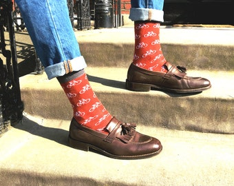 "Red bike men socks - ""Amsterdam"" 