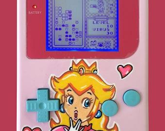 Super Mario Bros Themed Gameboy - Princess Peach