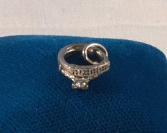 Wedding Rings Charm vintage sterling silver .mn925 #719