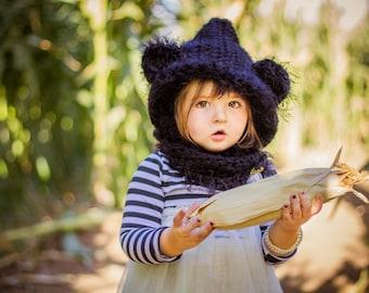 Baby Bear Crochet Hood