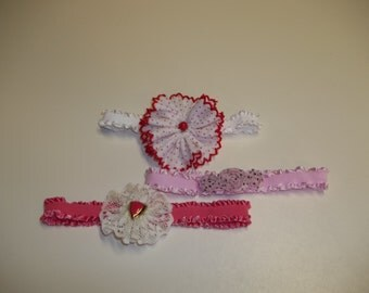 Newborn set of 3  Headbands