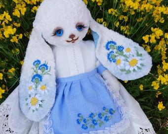 Artist teddi bear bunny Barbara.