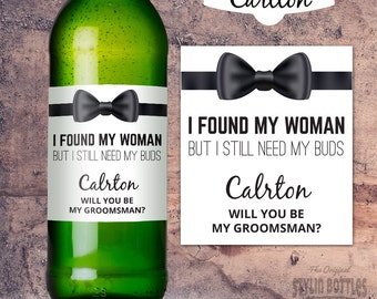 Groomsman Beer Bottle Labels, Wedding Beer Labels, Will You Be My Groomsman Beer, Groomsman Beer Label, Groomsman Proposal