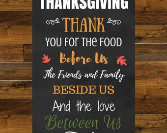 Thanksgiving Wall Art | Fall Printable | Instant Download | Thanksgiving Sign