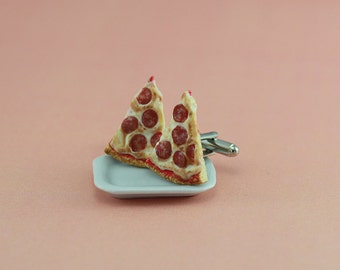 Pepperoni Pizza Cufflinks