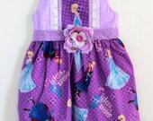 Frozen Girls Dress, Elsa dress, toddler dress, girls dress, birthday dress, boutique dress