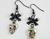 Skull and Bow Earrings